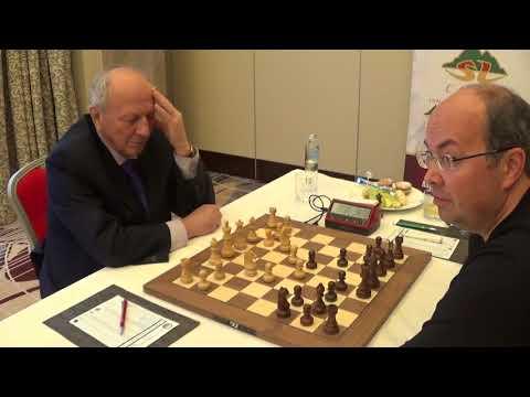 GM Evgeny Sveshnikov - Oleg Skvortsov, match at Kempinski Hotel, Riga, Caro-Kann, GAME II, PART I