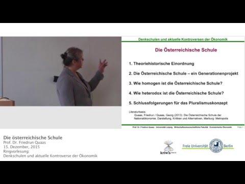 Österreichische Schule - Prof.Friedrun Quaas @FU-Berlin