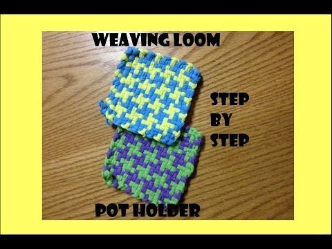 Mary's Houndstooth Potholder Weaving Loom Tutorial