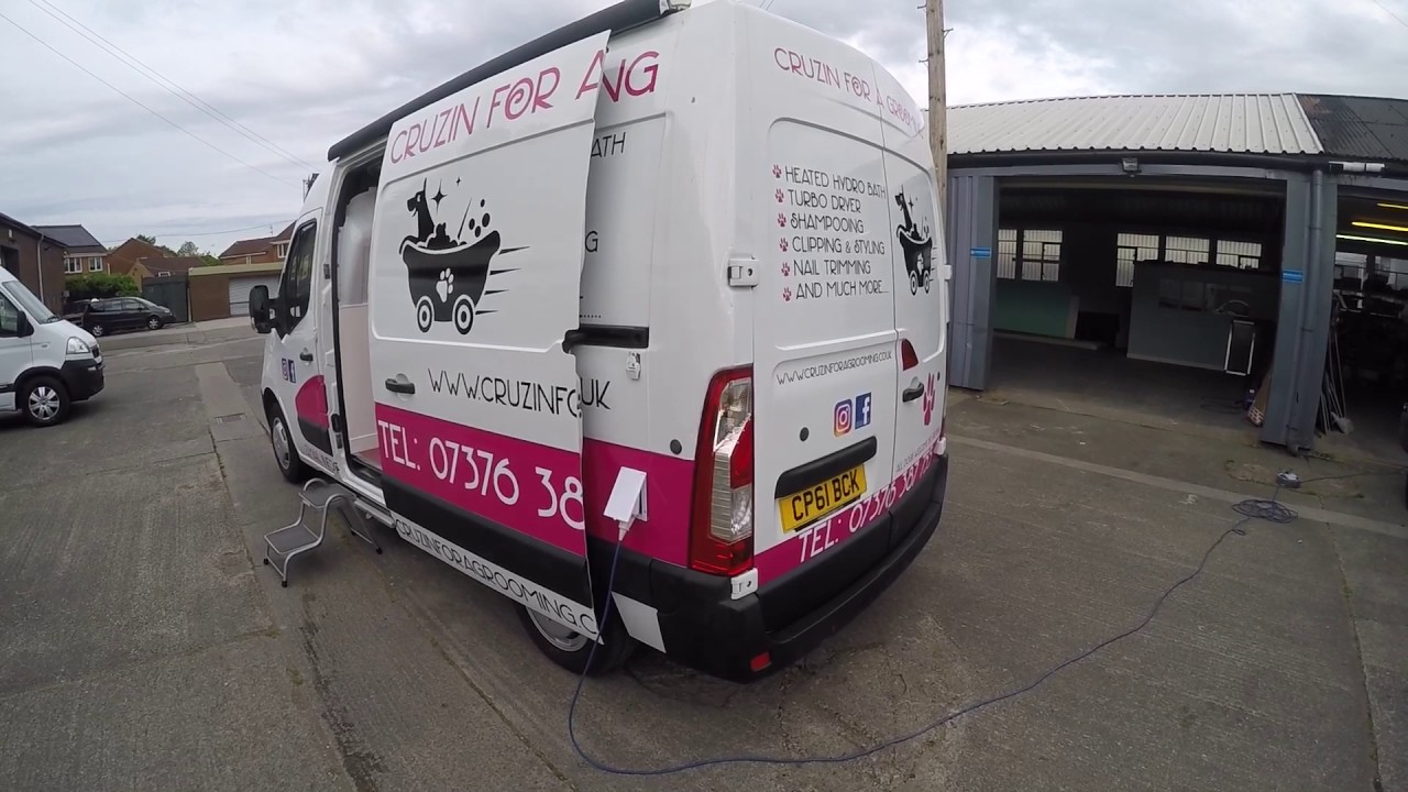 Mobile Dog Grooming Vans Of Cheshire Offers Our Latest Conversion With The New Hydro Bath