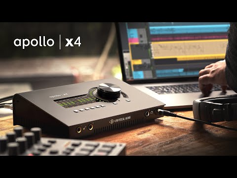 Apollo x4 Thunderbolt 3 Audio Interface — 4 Unison Mic Preamps w/ Realtime UAD Processing