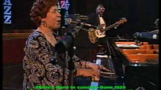 Shirley Horn in concert Bern 1990 part 1 This is the end of a beautiful friendship
