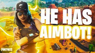 MY SNIPER has AIMBOT?! (Fortnite Battle Royale)