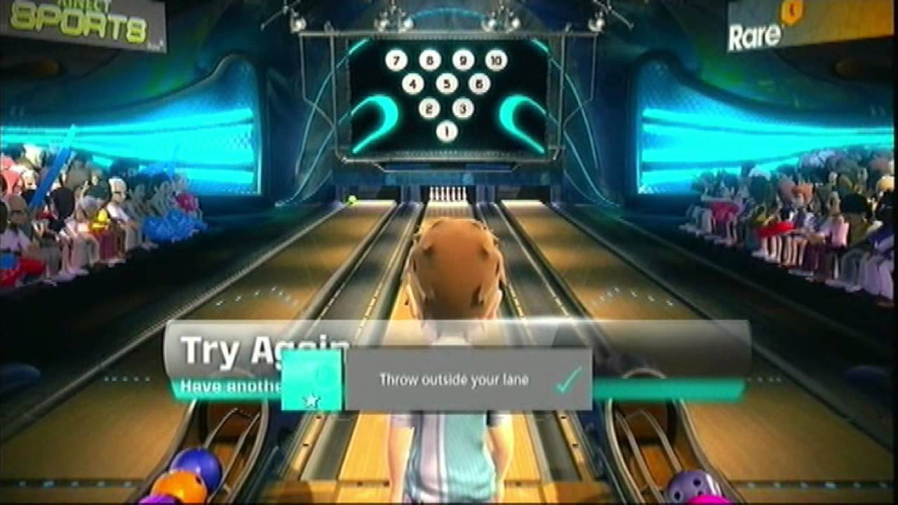 Kinect Sports Gems: 10 Frame Bowling - Tricky Challenges - YouTube