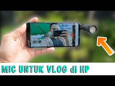 Mic Murah untuk vlog di HP - microphone shotgun murah tanpa splitter smartphone android iphone bisa