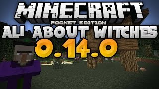 ALL ABOUT WITCHES in MCPE - Huts, Cauldrons, & More - Update Video - Minecraft PE (Pocket Edition)
