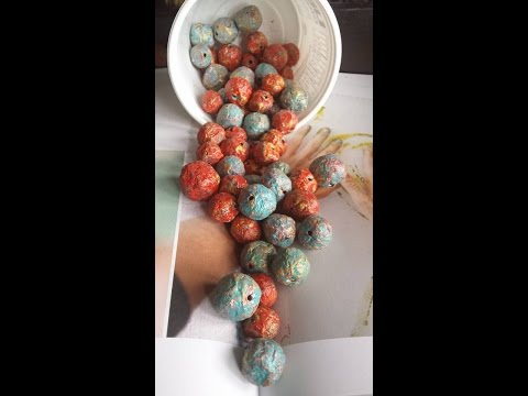 Paper pulp Beads