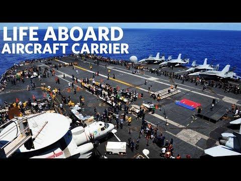 USS Gerald R. Ford (CVN 78) Flight Deck Activity   Life Aboard Aircraft Carrier