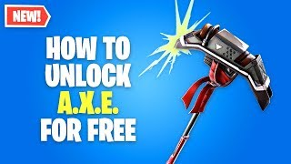 How to Unlock A.X.E. Pickaxe FREE in Fortnite - A.I.M. Hunting Party Skin (Theory)
