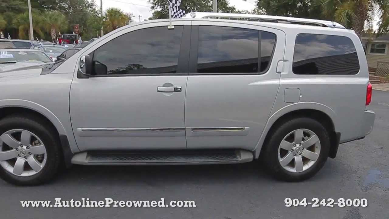autoline preowned 2010 nissan armada titanium for sale used walk around review jacksonville. Black Bedroom Furniture Sets. Home Design Ideas