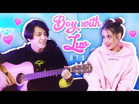 Download Lagu BTS  feat. Halsey - Boy With Luv ( Acoustic Russian Cover / На Русском ) MP3