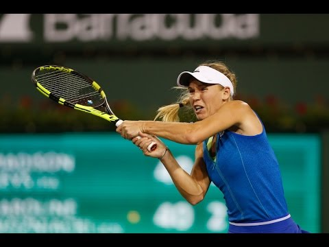 BNP Paribas Open 2017: Caroline Wozniacki vs. Madison Keys   Highlights