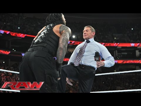Mr. McMahon decides Roman Reigns' fate: Raw, December 14, 2015