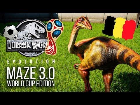 THE MAZE 3.0 - WORLD CUP EDITION! | Jurassic World: Evolution Maze Challenge