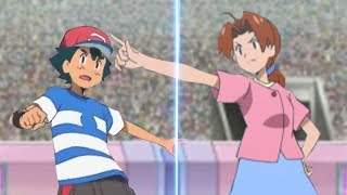 Pokemon Battle USUM Ash Vs Delia (Pokemon Mom and Son Face Off!)