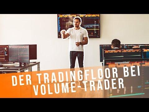 Der Tradingfloor bei Volume-Trader