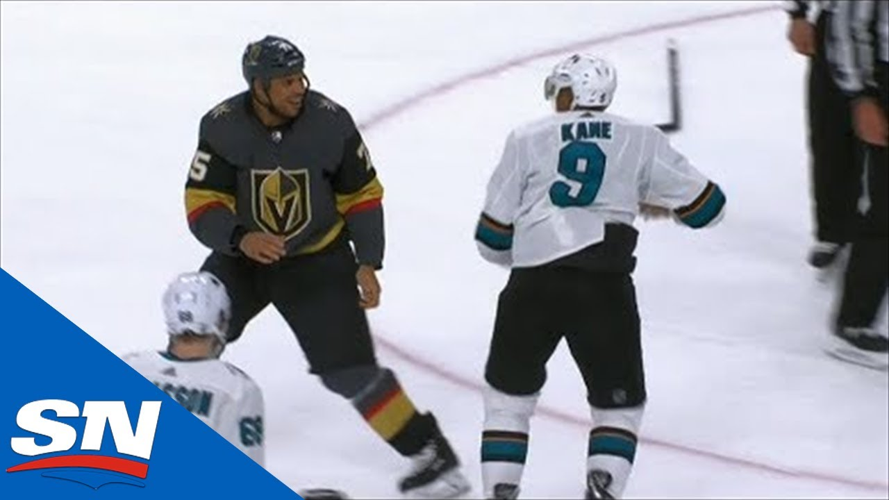 Ryan Reaves & Evander Kane Exchange Haymakers In Heavyweight Fight
