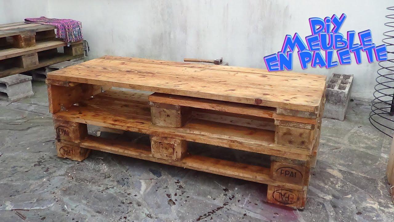 tuto creation d un meuble tele en palette de 3 parties