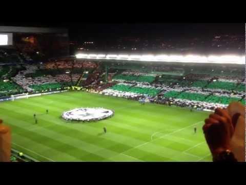 Celtic Fans champions league v Barcelona