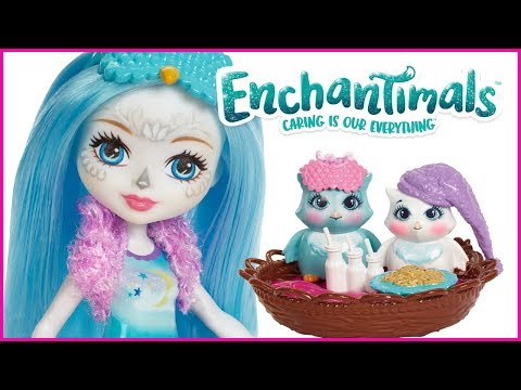 Mattel, 2018 New!!! Enchantimals Sleepover Night Owls Doll /& Playset Ohana Owl