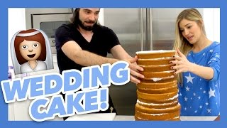 HOW TO MAKE A WEDDING CAKE! | iJustine