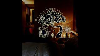Обзор наклейки  Дерево (светится в темноте)