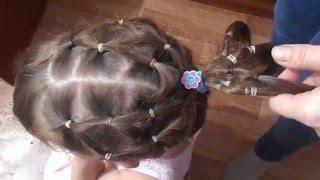Детская прическа на средние волосы! (Детская праздничная прическа)!