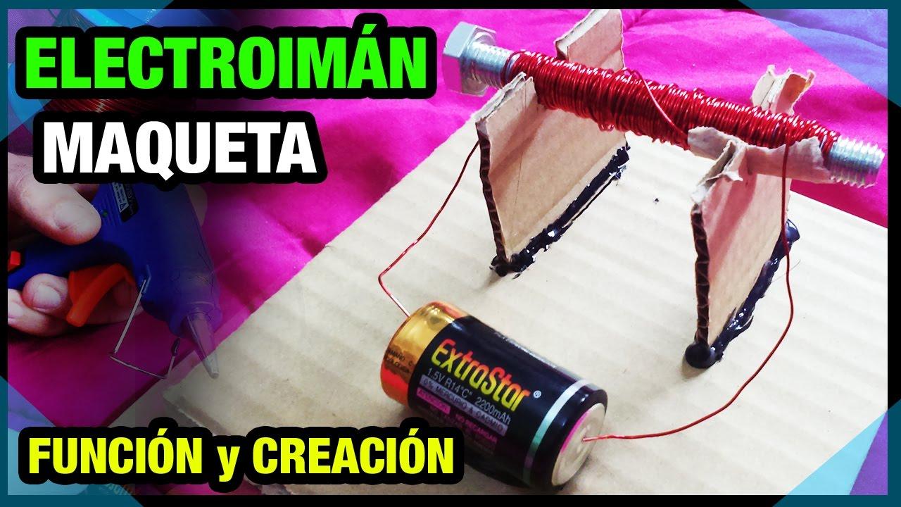 Electromagnetismo maqueta de un electroim n youtube for Materiales para hacer un ascensor