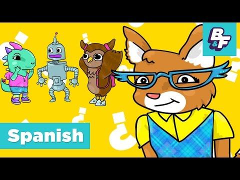 Learn Spanish Questions - Interrogative Pronouns with BASHO & FRIENDS - Qué, Quién, Cómo, Dónde?