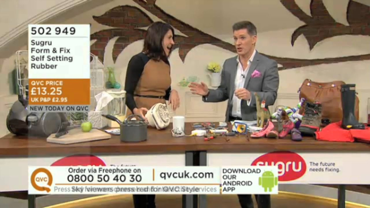 sugru's debut on QVC UK sells out in 4 minutes!! - YouTube