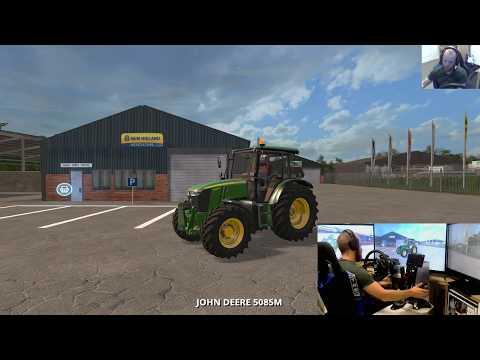 farming simulator 17 lets play Coldborough park farm E2 wheel+joystick