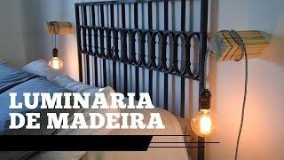 Luminária de madeira - Pra nossa casa - CANÁRIO HANDMADE
