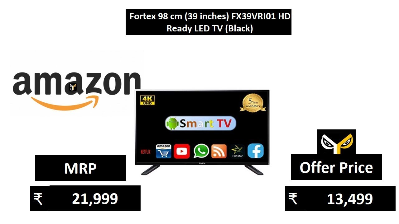 fortex 98 cm 39 inches fx39vri01 hd ready led tv black youtube. Black Bedroom Furniture Sets. Home Design Ideas