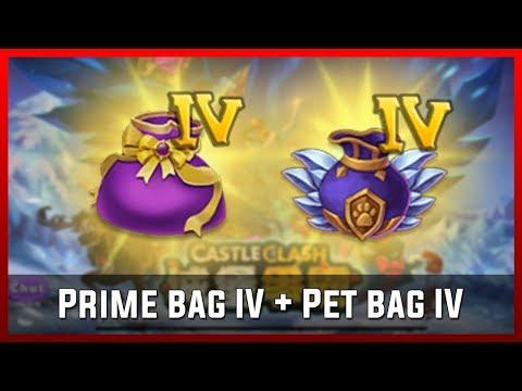 Prime Bag IV + Pet Bag IV | Castle Clash