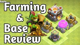 Th9 farming and Base reviews | Clash of Clans