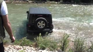 Wrangler Rubicon river crossing