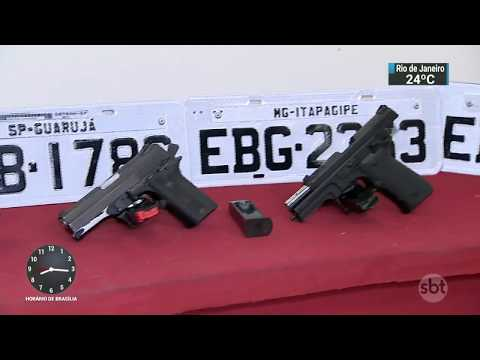 Polícia prende três suspeitos de roubos a bancos e cargas em SP | SBT Brasil (05/12/17)