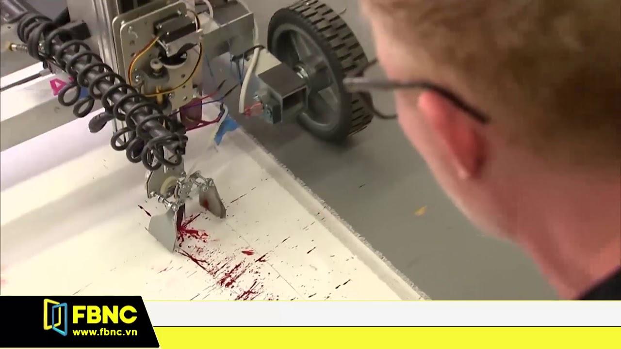 Họa sĩ Mỹ vẽ tranh bằng Robot tự động thông minh | FBNC