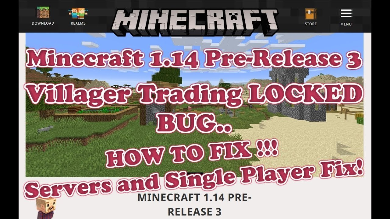Minecraft 11.111+ Villager Trading LOCKED - HOW TO FIX - Data Pack