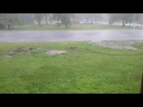 Backus, minnesota Hail storm part 1