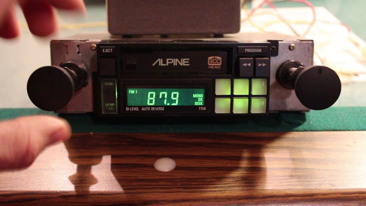 Alpine Vintage Deck Radio Cassette Overview