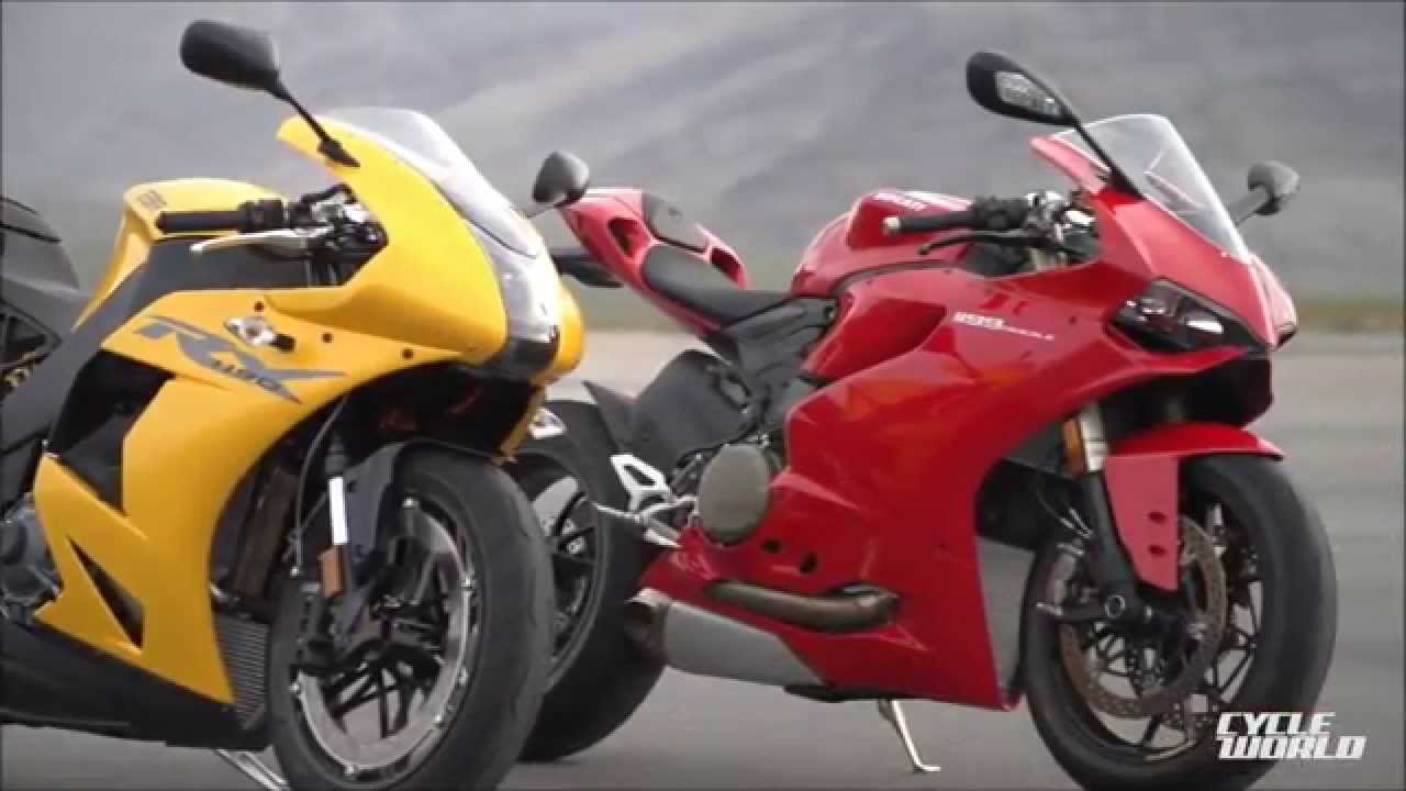 ebr 1190rx vs ducati panigale - youtube
