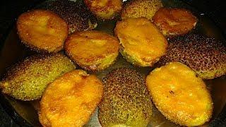 কাঁকরোল পুর ভাজা   Most Popular Stuffed Teasel Gourd Fry Recipe   Kankrol Pur Bhaja/Pur Vora Kankrol