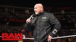 Goldberg returns to send a message to Brock Lesnar: Raw, Oct. 17, 2016