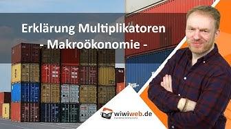 Erklärung Multiplikatoren - Makroökonomie ► wiwiweb.de