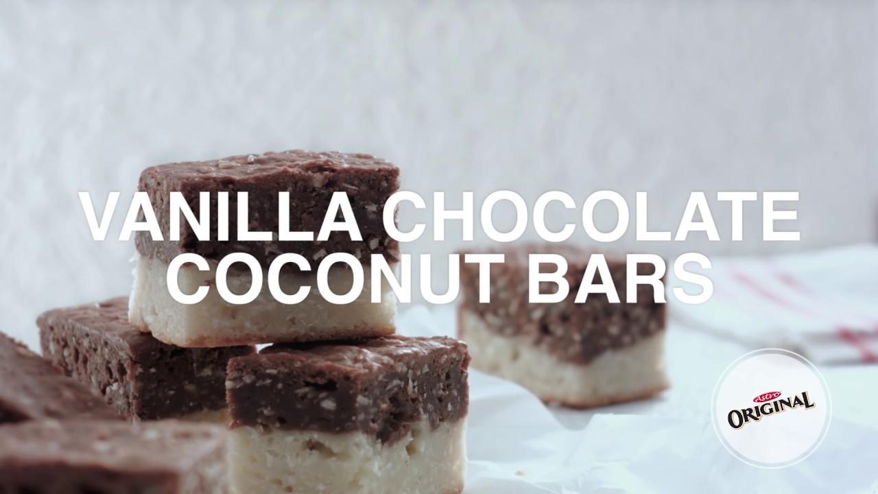 Vanilla Chocolate Coconut Bars - YouTube