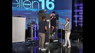 Mark Wahlberg recently told Ellen that he undergoes cryotherapy to stay healthy and fit. Naturally, she wanted to know what it was like, so she surprised her Executive Producer Andy and sent him into the -150 degree cryo chamber.  #AverageAndy #Cryotherapy #TheEllenShow