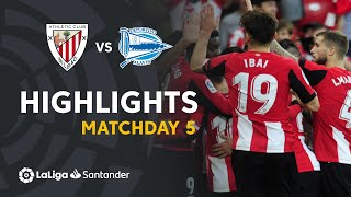 Highlights Athletic Club vs Deportivo Alavés (2-0)
