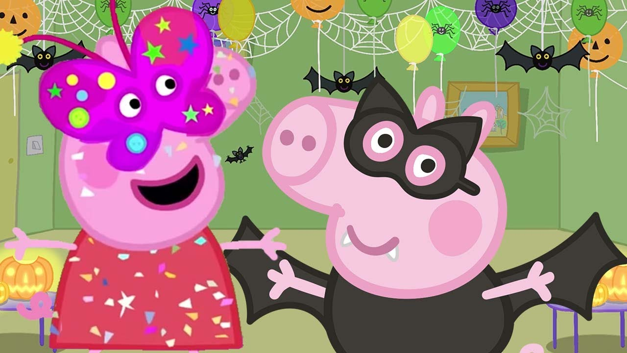 Peppa Pig Official Channel | Peppa Pig Makes Masks for Halloween Party