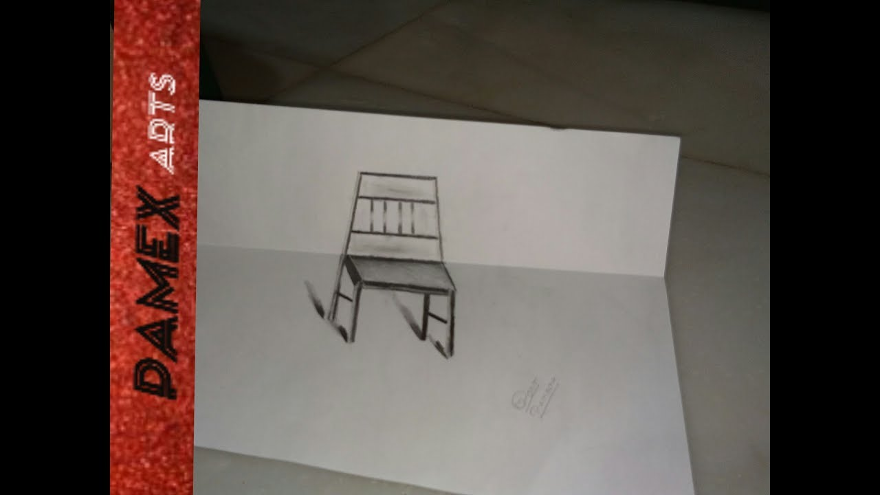 how to draw 3d chair||how to draw chair for kids||drawing chair